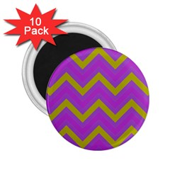 Zig Zags Pattern 2 25  Magnets (10 Pack)  by Valentinaart