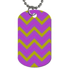 Zig Zags Pattern Dog Tag (two Sides) by Valentinaart
