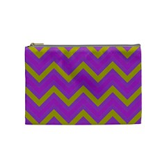 Zig Zags Pattern Cosmetic Bag (medium)  by Valentinaart
