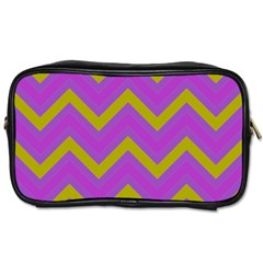 Zig Zags Pattern Toiletries Bags 2 Side by Valentinaart