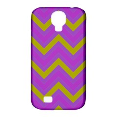 Zig Zags Pattern Samsung Galaxy S4 Classic Hardshell Case (pc+silicone) by Valentinaart