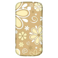 Flower Floral Star Sunflower Grey Samsung Galaxy S3 S Iii Classic Hardshell Back Case by Mariart