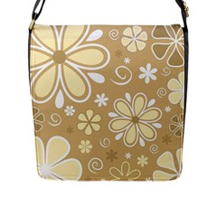 Flower Floral Star Sunflower Grey Flap Messenger Bag (l)  by Mariart