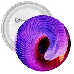 Digital Art Spirals Wave Waves Chevron Red Purple Blue Pink 3  Buttons by Mariart