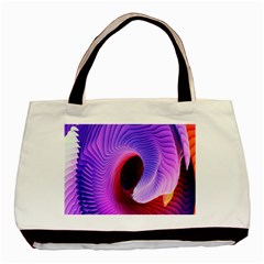 Digital Art Spirals Wave Waves Chevron Red Purple Blue Pink Basic Tote Bag by Mariart