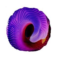 Digital Art Spirals Wave Waves Chevron Red Purple Blue Pink Standard 15  Premium Round Cushions by Mariart