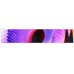 Digital Art Spirals Wave Waves Chevron Red Purple Blue Pink Flano Scarf (large) by Mariart