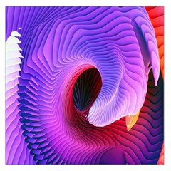 Digital Art Spirals Wave Waves Chevron Red Purple Blue Pink Large Satin Scarf (square) by Mariart