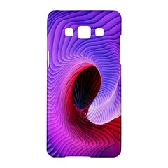 Digital Art Spirals Wave Waves Chevron Red Purple Blue Pink Samsung Galaxy A5 Hardshell Case  by Mariart
