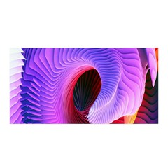 Digital Art Spirals Wave Waves Chevron Red Purple Blue Pink Satin Wrap by Mariart