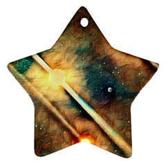 Light Space Star Ornament (two Sides) by DeneWestUK
