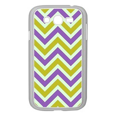Zig Zags Pattern Samsung Galaxy Grand Duos I9082 Case (white) by Valentinaart