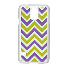 Zig Zags Pattern Samsung Galaxy S5 Case (white) by Valentinaart
