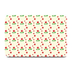 Flower Floral Sunflower Rose Star Red Green Plate Mats by Mariart