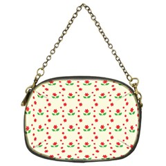 Flower Floral Sunflower Rose Star Red Green Chain Purses (two Sides)  by Mariart
