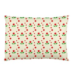 Flower Floral Sunflower Rose Star Red Green Pillow Case (two Sides) by Mariart