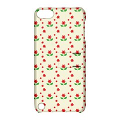 Flower Floral Sunflower Rose Star Red Green Apple Ipod Touch 5 Hardshell Case With Stand by Mariart