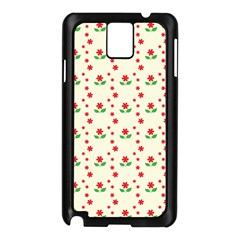 Flower Floral Sunflower Rose Star Red Green Samsung Galaxy Note 3 N9005 Case (black) by Mariart