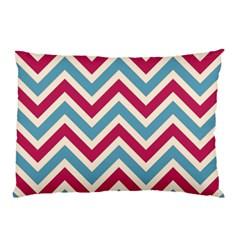 Zig Zags Pattern Pillow Case by Valentinaart