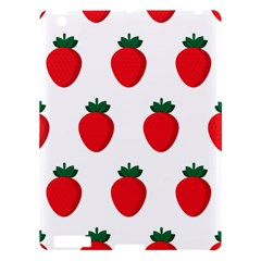 Fruit Strawberries Red Green Apple Ipad 3/4 Hardshell Case by Mariart
