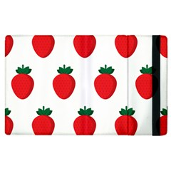 Fruit Strawberries Red Green Apple Ipad 2 Flip Case by Mariart