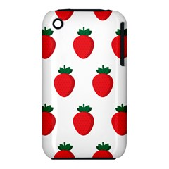 Fruit Strawberries Red Green Iphone 3s/3gs by Mariart