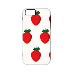 Fruit Strawberries Red Green Apple Iphone 5 Classic Hardshell Case (pc+silicone) by Mariart