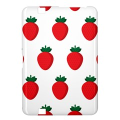 Fruit Strawberries Red Green Kindle Fire Hd 8 9  by Mariart