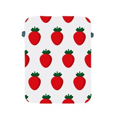 Fruit Strawberries Red Green Apple Ipad 2/3/4 Protective Soft Cases by Mariart