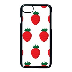 Fruit Strawberries Red Green Apple Iphone 7 Seamless Case (black) by Mariart
