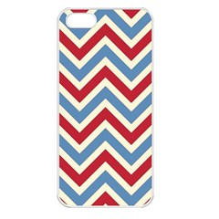 Zig Zags Pattern Apple Iphone 5 Seamless Case (white) by Valentinaart