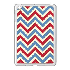 Zig Zags Pattern Apple Ipad Mini Case (white) by Valentinaart
