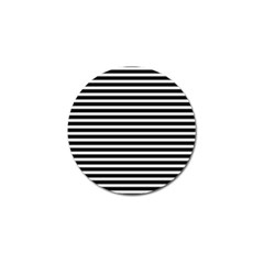 Horizontal Stripes Black Golf Ball Marker (10 Pack) by Mariart