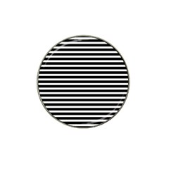 Horizontal Stripes Black Hat Clip Ball Marker (4 Pack) by Mariart