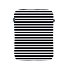 Horizontal Stripes Black Apple Ipad 2/3/4 Protective Soft Cases by Mariart