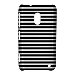 Horizontal Stripes Black Nokia Lumia 620 by Mariart