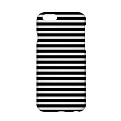 Horizontal Stripes Black Apple Iphone 6/6s Hardshell Case by Mariart