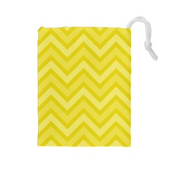 Zig Zags Pattern Drawstring Pouches (large)  by Valentinaart