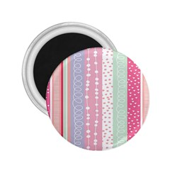 Heart Love Valentine Polka Dot Pink Blue Grey Purple Red 2 25  Magnets by Mariart