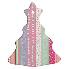 Heart Love Valentine Polka Dot Pink Blue Grey Purple Red Ornament (christmas Tree)  by Mariart