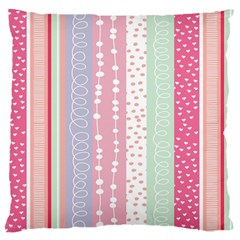 Heart Love Valentine Polka Dot Pink Blue Grey Purple Red Large Cushion Case (one Side) by Mariart