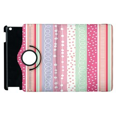 Heart Love Valentine Polka Dot Pink Blue Grey Purple Red Apple Ipad 2 Flip 360 Case by Mariart