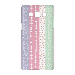 Heart Love Valentine Polka Dot Pink Blue Grey Purple Red Samsung Galaxy A5 Hardshell Case  by Mariart