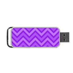 Zig Zags Pattern Portable Usb Flash (two Sides) by Valentinaart