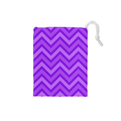 Zig Zags Pattern Drawstring Pouches (small)  by Valentinaart