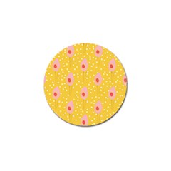 Flower Floral Tulip Leaf Pink Yellow Polka Sot Spot Golf Ball Marker (10 Pack) by Mariart