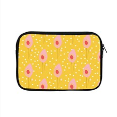 Flower Floral Tulip Leaf Pink Yellow Polka Sot Spot Apple Macbook Pro 15  Zipper Case by Mariart
