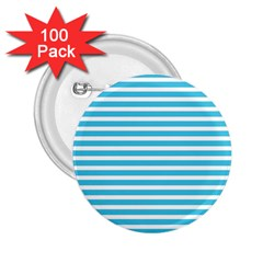 Horizontal Stripes Blue 2 25  Buttons (100 Pack)  by Mariart
