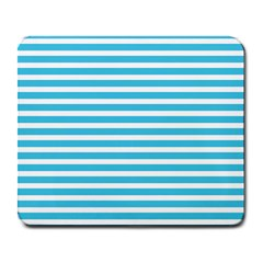 Horizontal Stripes Blue Large Mousepads by Mariart