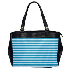 Horizontal Stripes Blue Office Handbags by Mariart